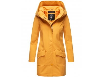 Dámsky zimný Softshell kabátik Mayleen Marikoo - AMBER YELLOW