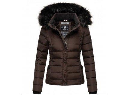 Dámska zimná bunda s kožušinkou MIAMOR Navahoo - CHOCOLATE