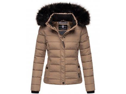 Dámska zimná bunda s kožušinkou MIAMOR Navahoo - TAUPE GREY