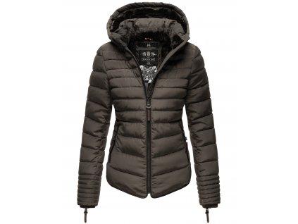 Dámska zimná bunda s kožušinkou Amber Marikoo - ANTRACITE