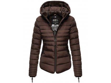 Dámska zimná bunda s kožušinkou Amber Marikoo - CHOCOLATE