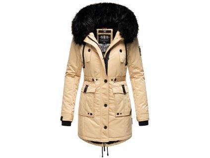 Dámska zimná dlhá bunda / kabát Luluna Princess Navahoo - BEIGE