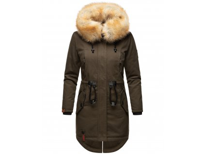 Dámska zimná dlhá bunda Bombii Navahoo - ANTRACITE