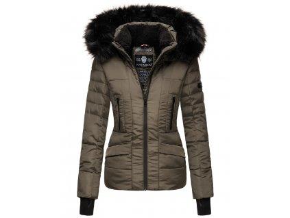 Dámska zimná bunda s kapucňou Adele Navahoo - ANTRACIT