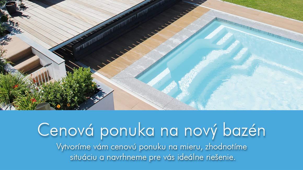 Cenová ponuka pre bazény