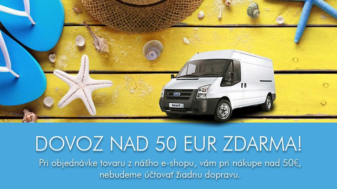 Dovoz zdarma nad 50 EUR z eshopu