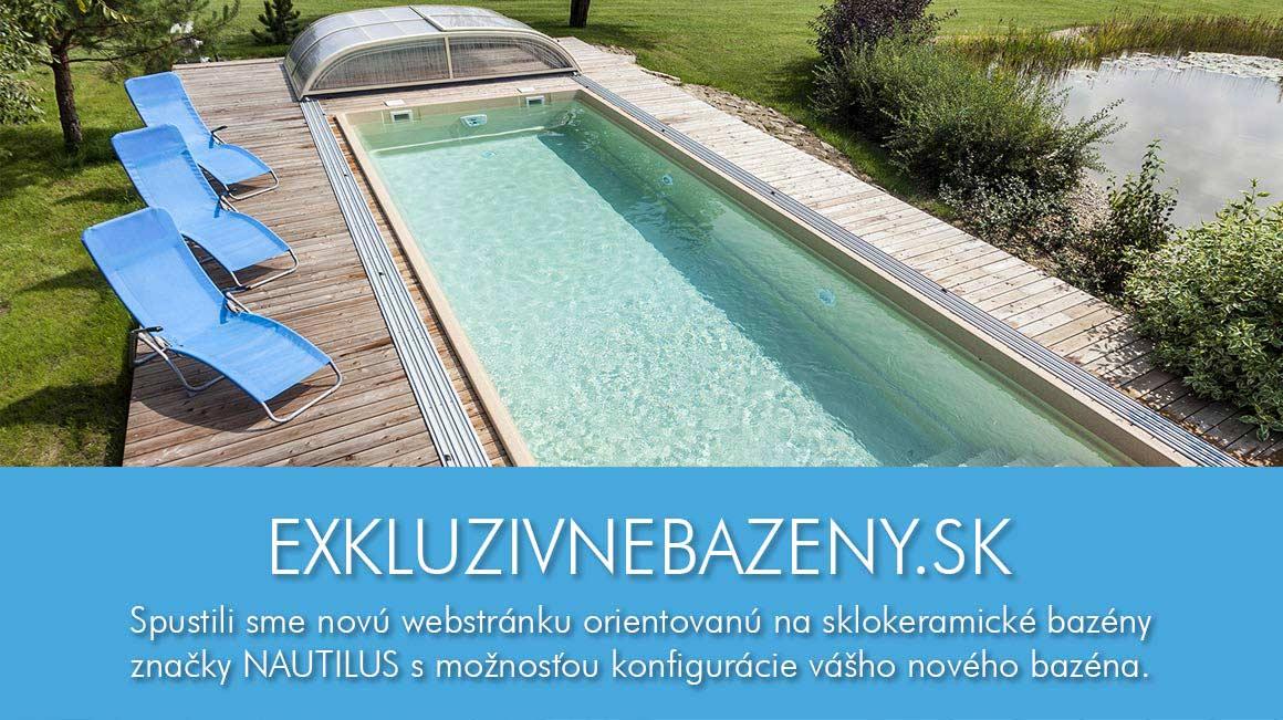 Sklokeramické bazény Nautilus - luxus pre vás