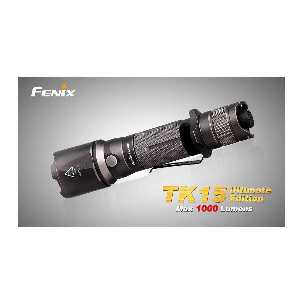 Taktická LED svítilna Fenix TK15 Ultimate Edition Šedá