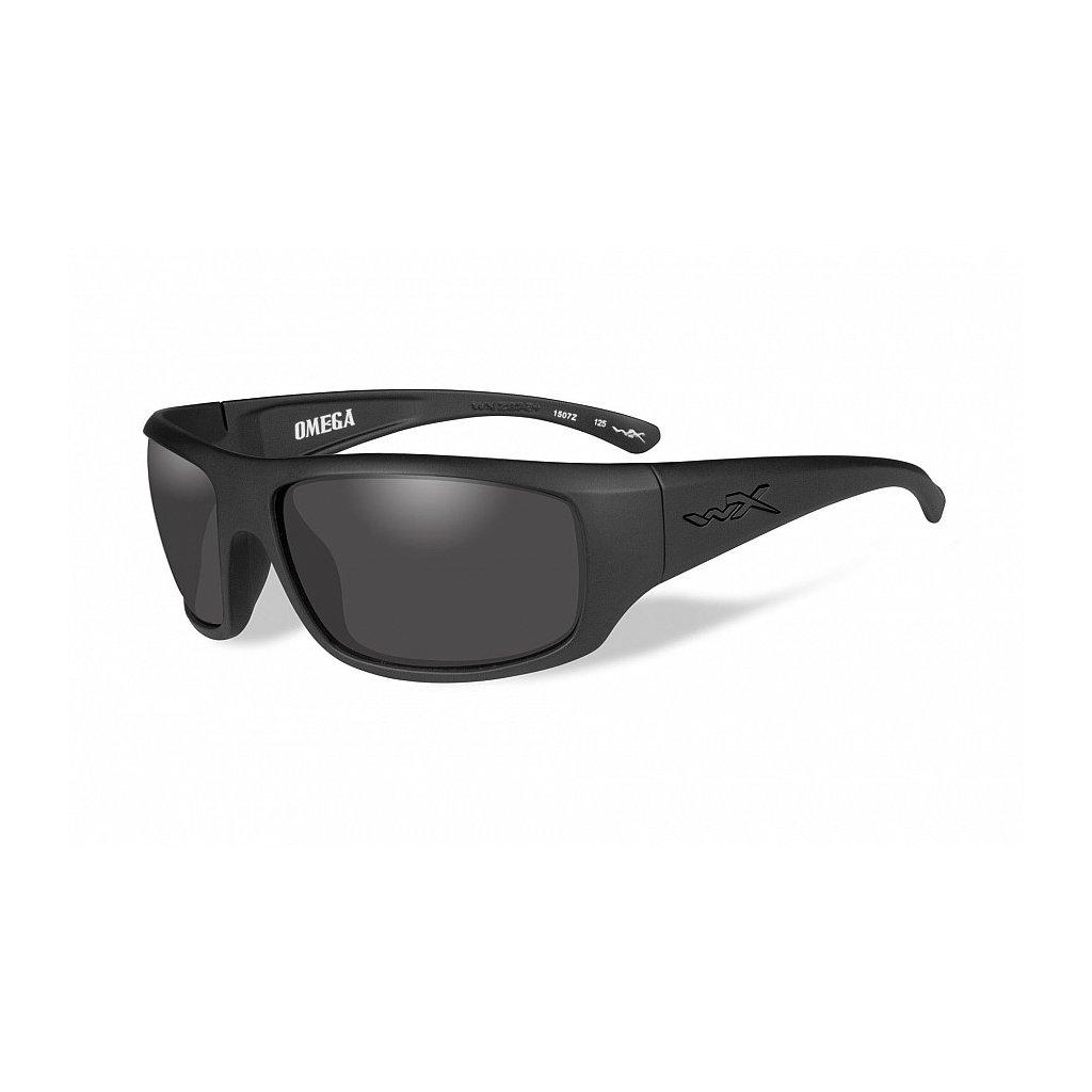 Střelecké Brýle Wiley X Omega Black Ops Smoke Grey
