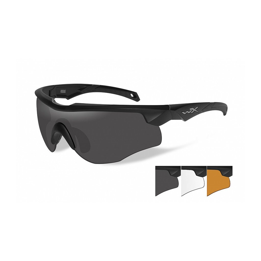 Střelecké Brýle Wiley X Rogue Smoke Grey Sada 3 Skla