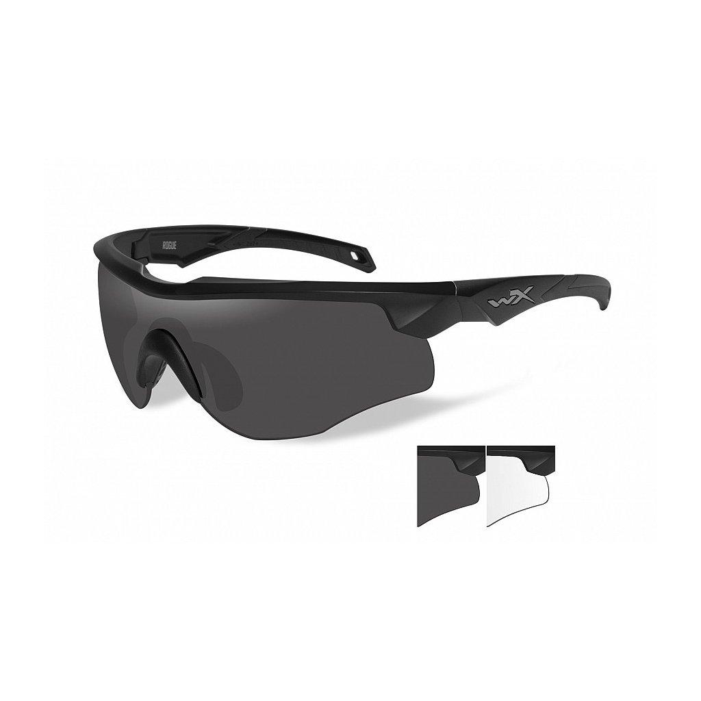 Střelecké Brýle Wiley X Rogue Smoke Grey Sada 2 Skla