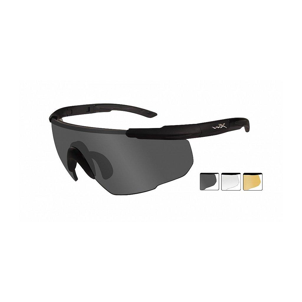 Střelecké Brýle Wiley X Saber Advanced Smoke Grey Sada 3 Skla