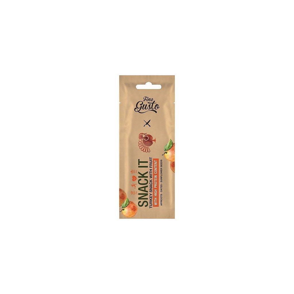 Snack bar krůtí s meruňkou - 20 gramů