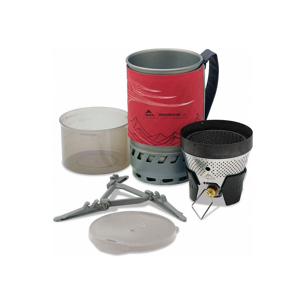Plynový vařič MSR WindBurner 1L Červený
