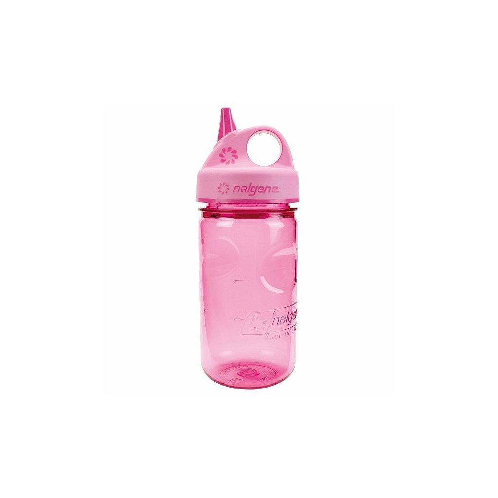 Láhev Nalgene Grip´n Gulp 300 ml Růžová