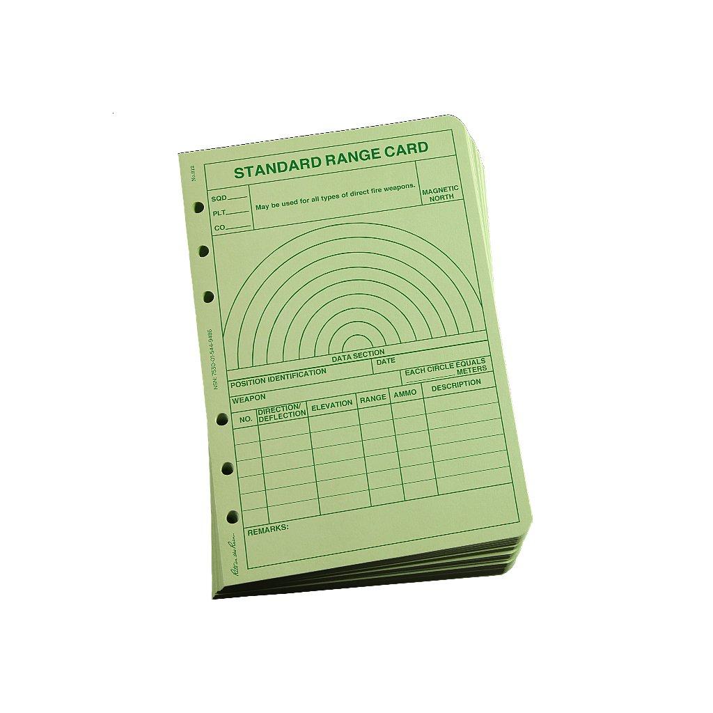 Taktický formulář All Weather Range Card Zelený