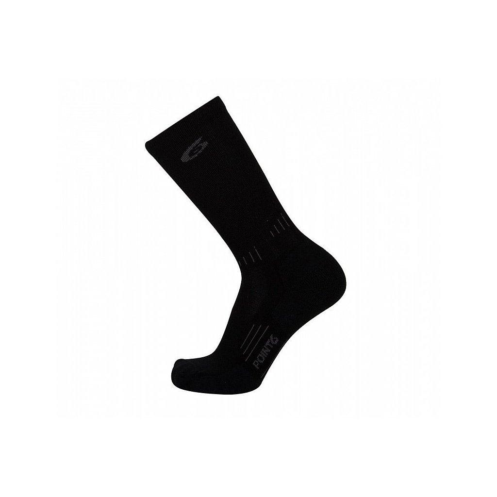 Merino Ponožky Point6 37.5 Tactical Tracker Černé