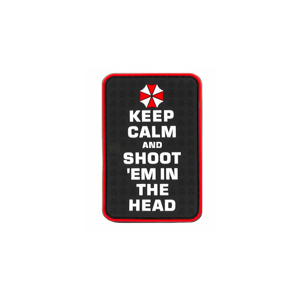 Gumová nášivka Keep Calm and Shoot