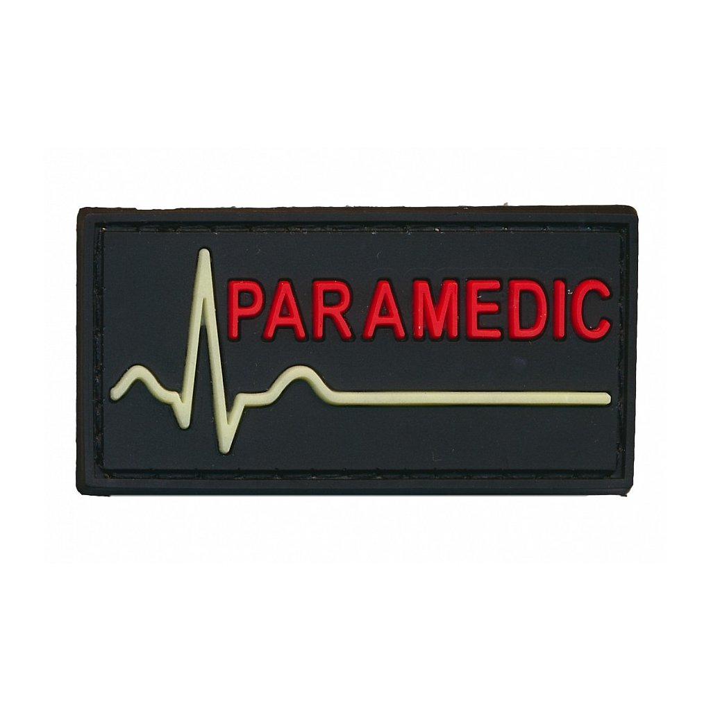 Gumová nášivka Paramedic