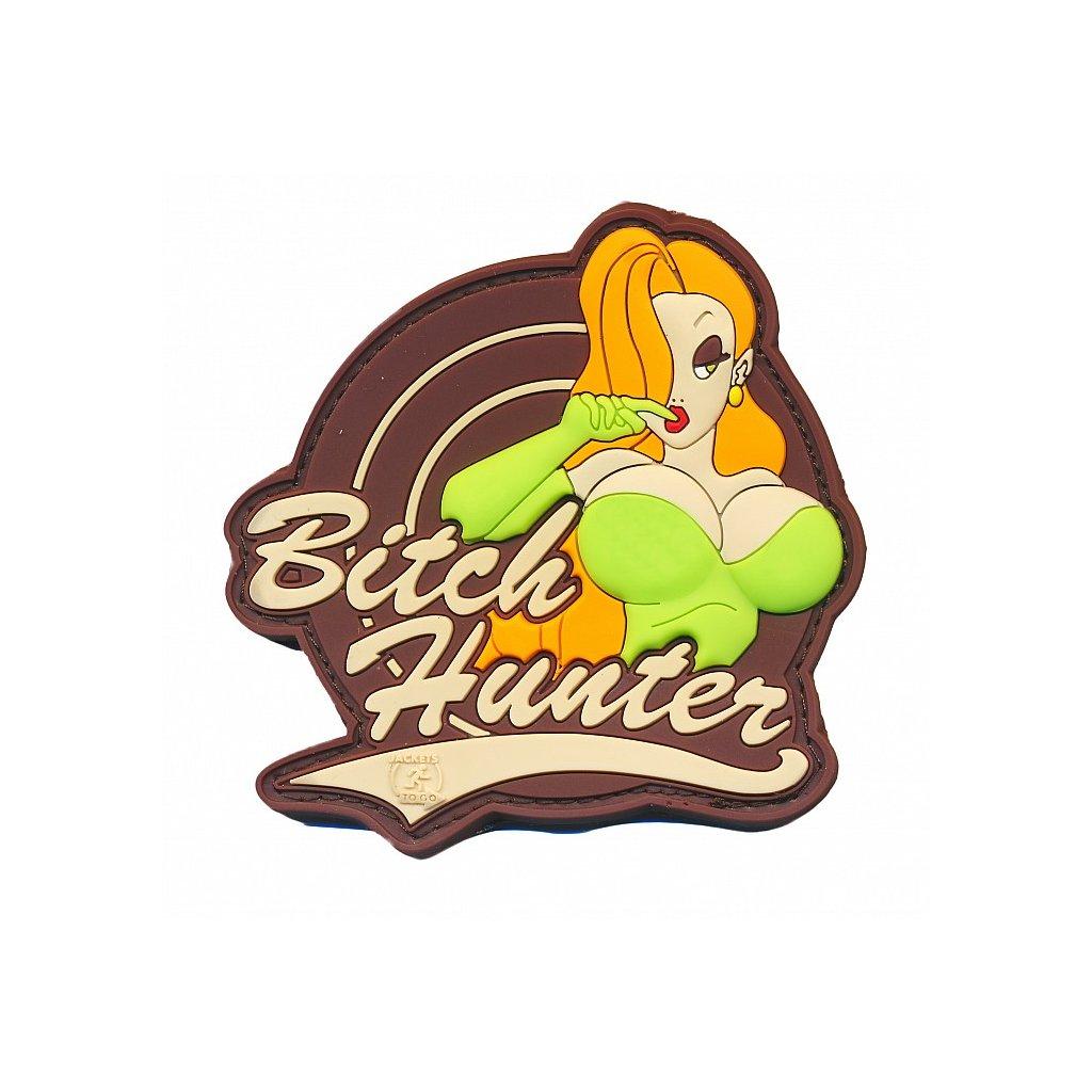 Gumová nášivka Bitch Hunter Multicam