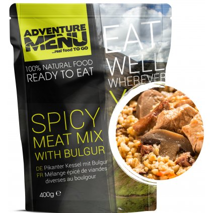 Spicy meat mix with bulgur p