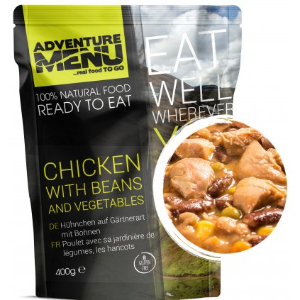 Chicken with beans p