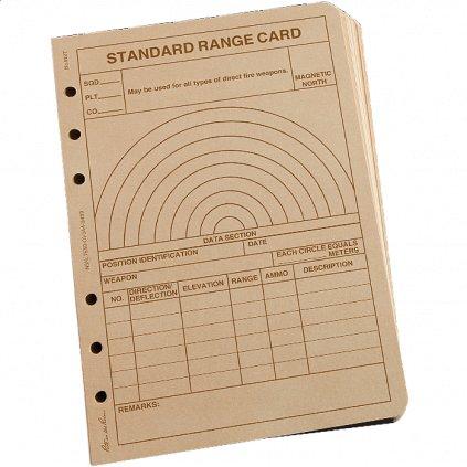 Taktický Formulář Rite in the Rain All Weather Range Card Pískový