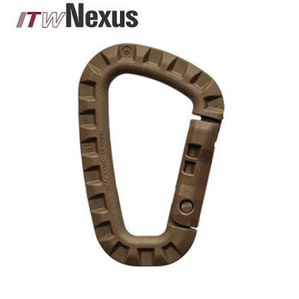 Plastová karabina Taclink ITW Nexus coyote