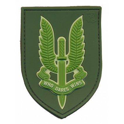 Gumová nášivka SAS Forest Green