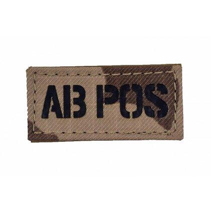 AČR Rozlišovací IR Znak Krevní Skupina AB POS vz.95 Poušť