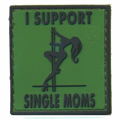 Gumová nášivka I Support Single Moms Forest