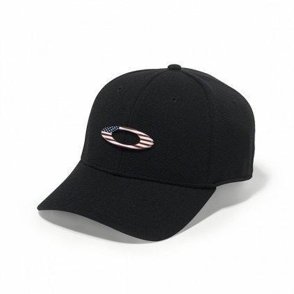 Kšiltovka Oakley Tincan Cap Black/American Flag