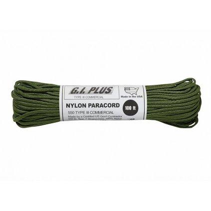 Padáková šňůra PARACORD Nylon 30m Olive
