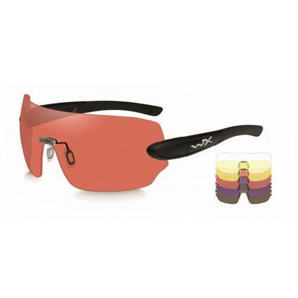 Střelecké brýle Wiley X Detection Sada 5 skel (Clear, Yellow, Orange, Purple, Cooper)