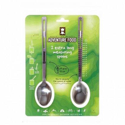 adventure food extra long measuring spoons nerezove lzice 2 ks