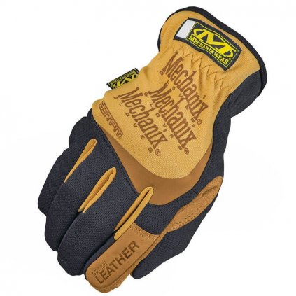 eng pl Mechanix Wear Leather Gloves FastFit Black Coyote 20471 1