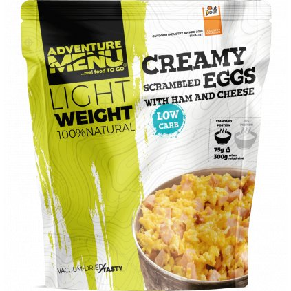 Adventure Menu Light Weight Krémová míchaná vajíčka se šunkou a sýrem