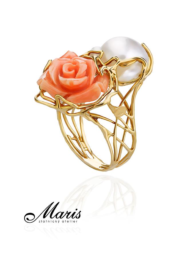 Prsten 18 kt bílé zlato
