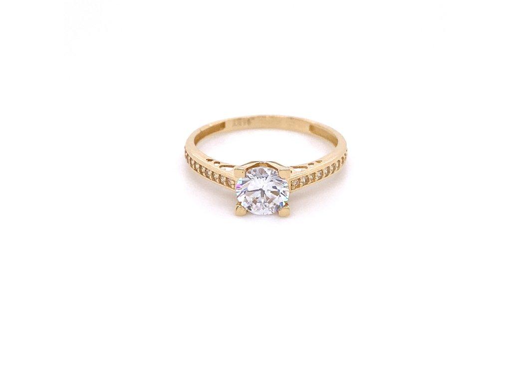 prsten-ze-zluteho-zlata-se-zirkony-5Prsten ze žliutého zlata a zirkonů