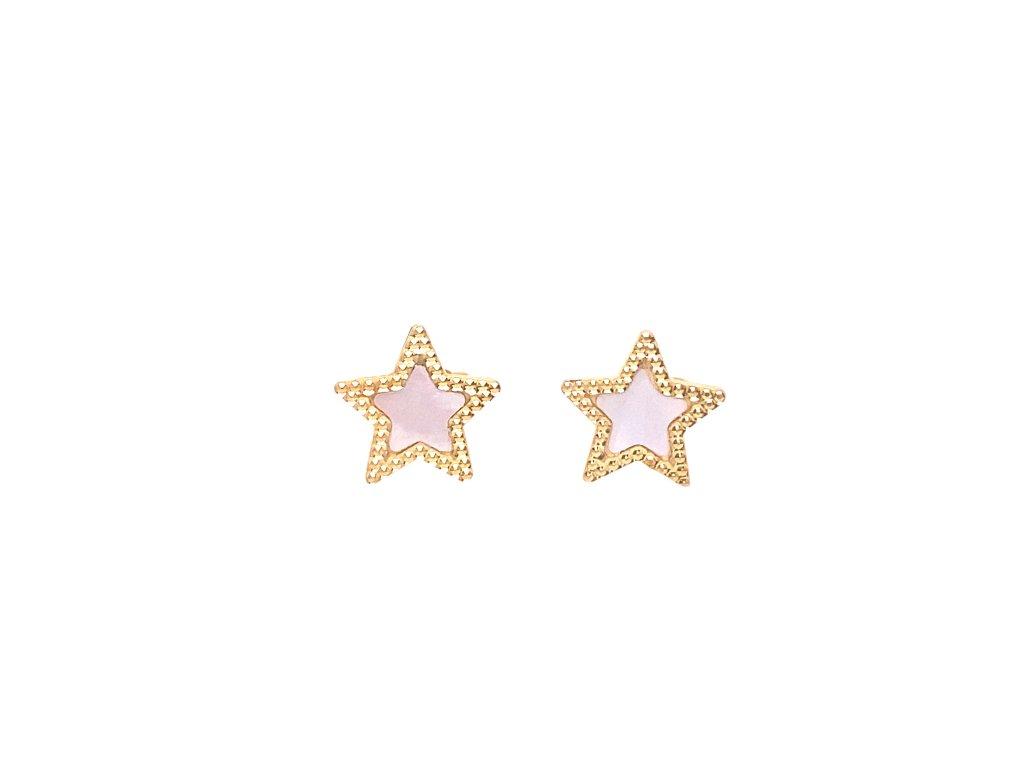 nausnice-hvezdicky-ze-zluteho-zlata-s-perleti