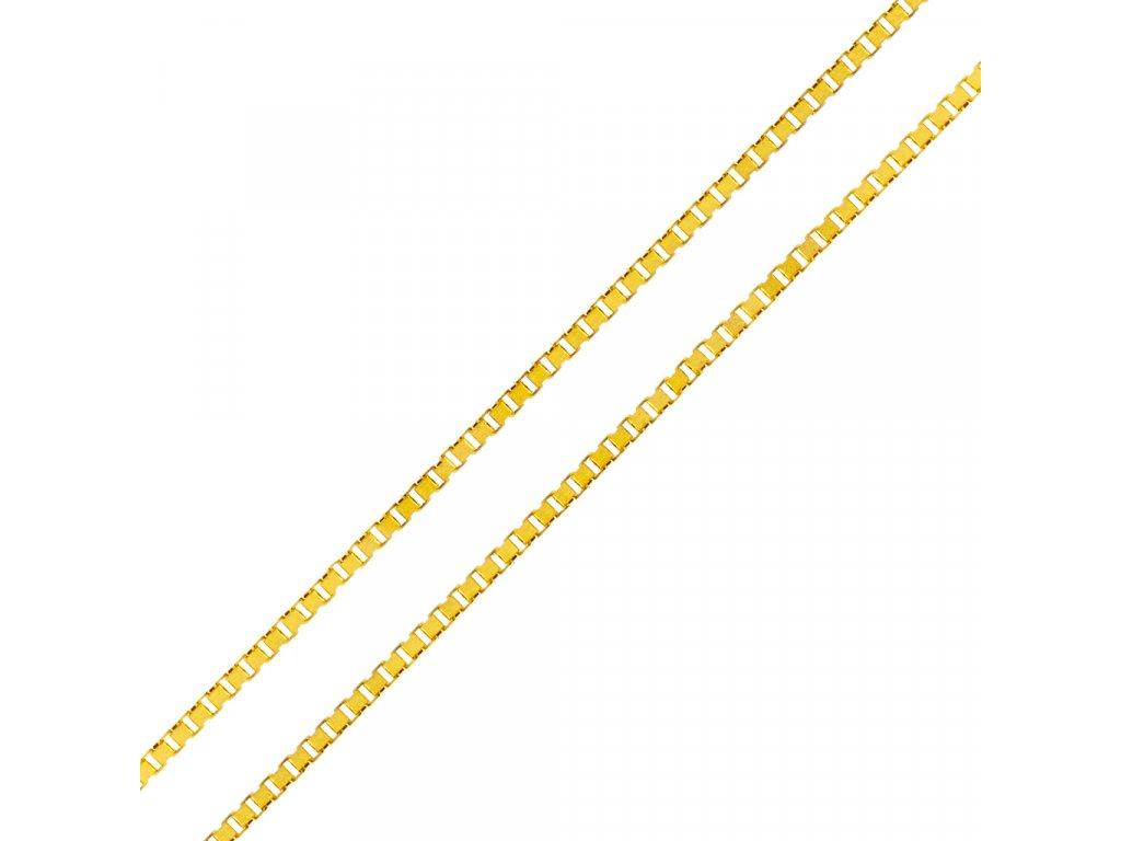 retizek-kostka-ze-zluteho-zlata-45-cm