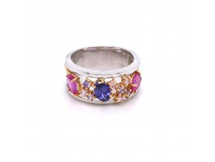 prsten-z-bileho-a-ruzoveho-zlata-s-barevnymi-zirkony