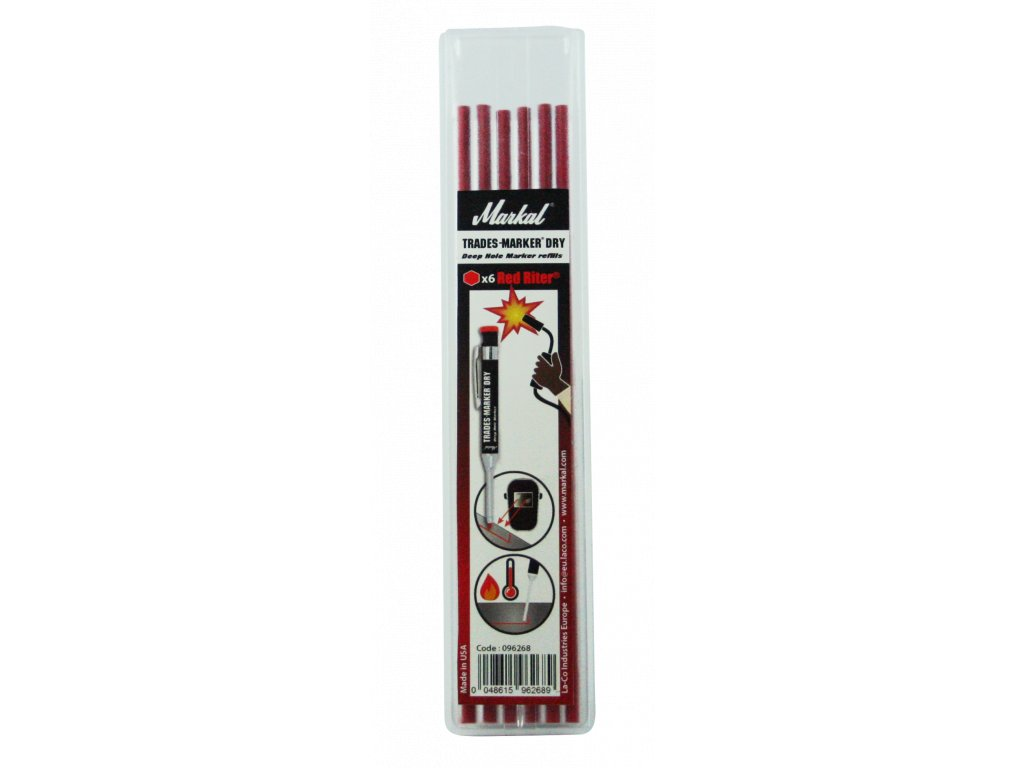 TRADES-MARKER DRY - REFILL PACK (x6 Red Riter)
