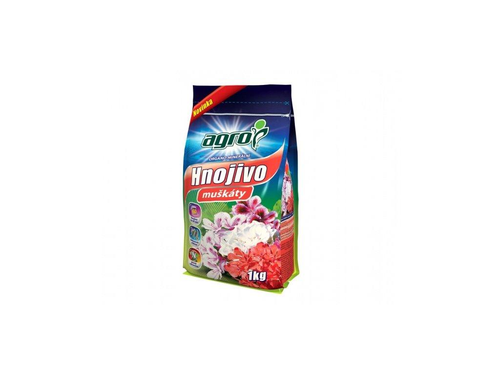 Hnojivo AGRO organo-minerální na muškáty 1kg