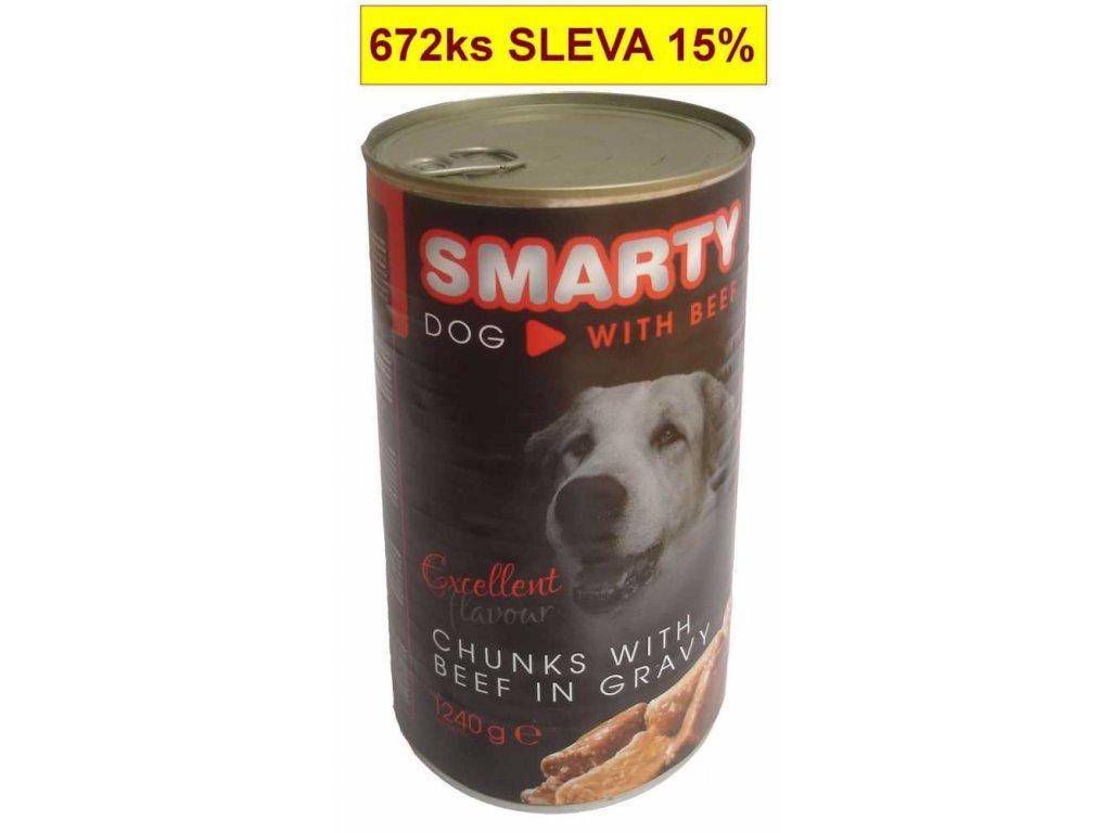 SMARTY chunks DOG 1240g BEEF-hovězí-7750