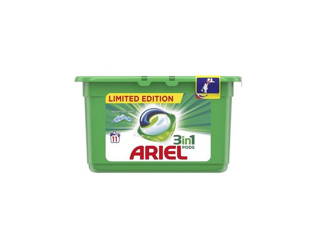 Ariel 3v1 Mountain Spring gelové kapsle na praní prádla 11 kusů 297 g