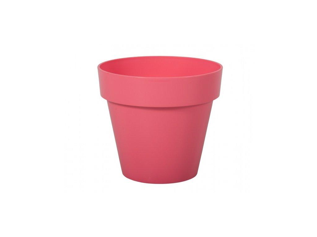 Květník MITU plastový světle růžový lesklý d16x14cm