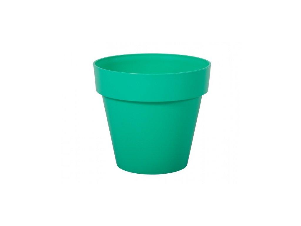 Květník MITU plastový modro zelený lesklý d18x16cm