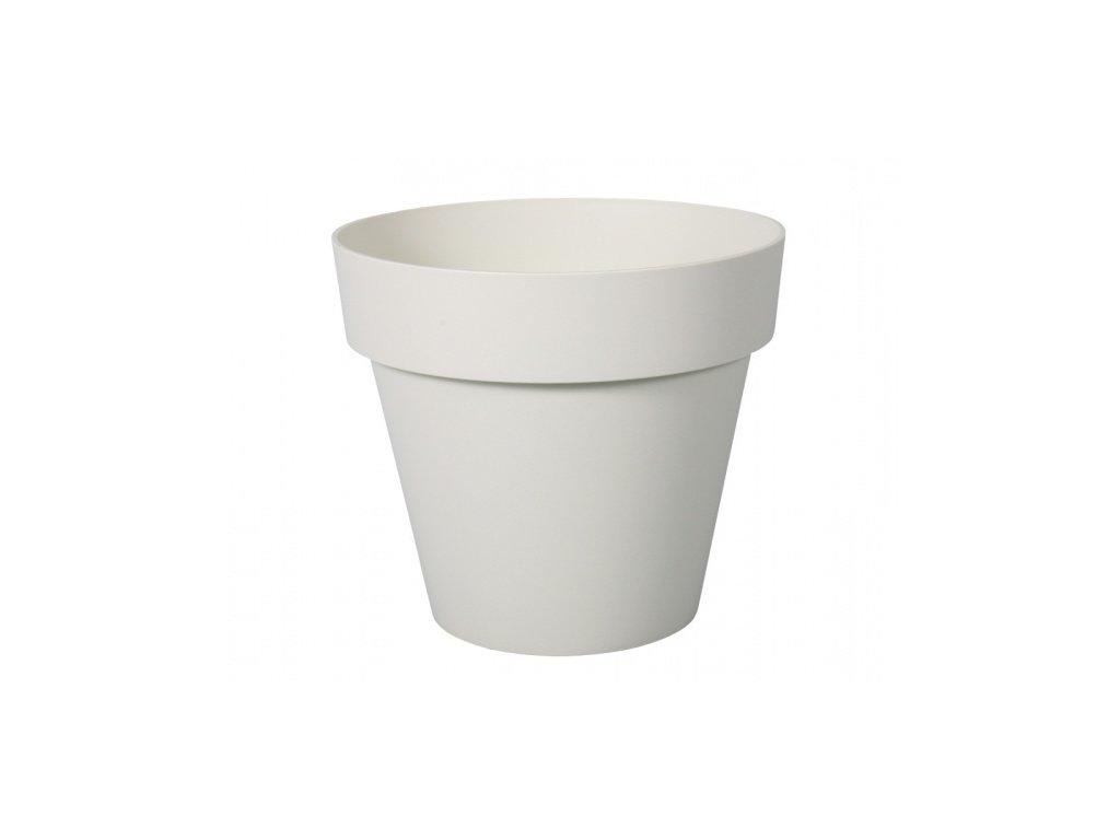 Květník MITU PAC PASTEL plastový bílo béžový d35cm