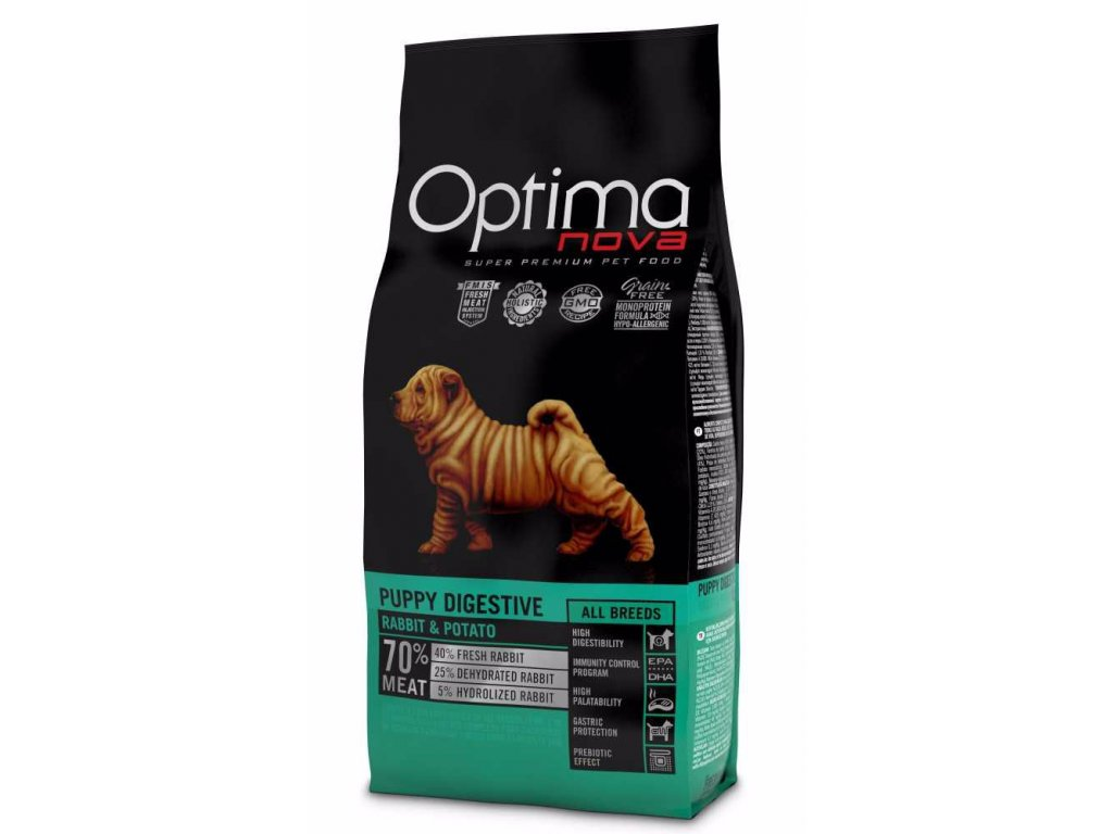 OPTIMAnova dog PUPPY DIGESTIVE GF Rabbit 800g-11085